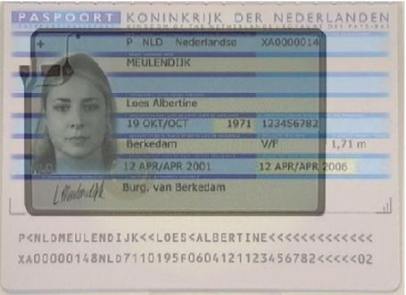 Figure : A Transparent Sample Epassport Showing The Normally Visible MRZ At  The Bottom And The Normally Hidden RFID Loop Antenna With The Small RFID  Tag In ...